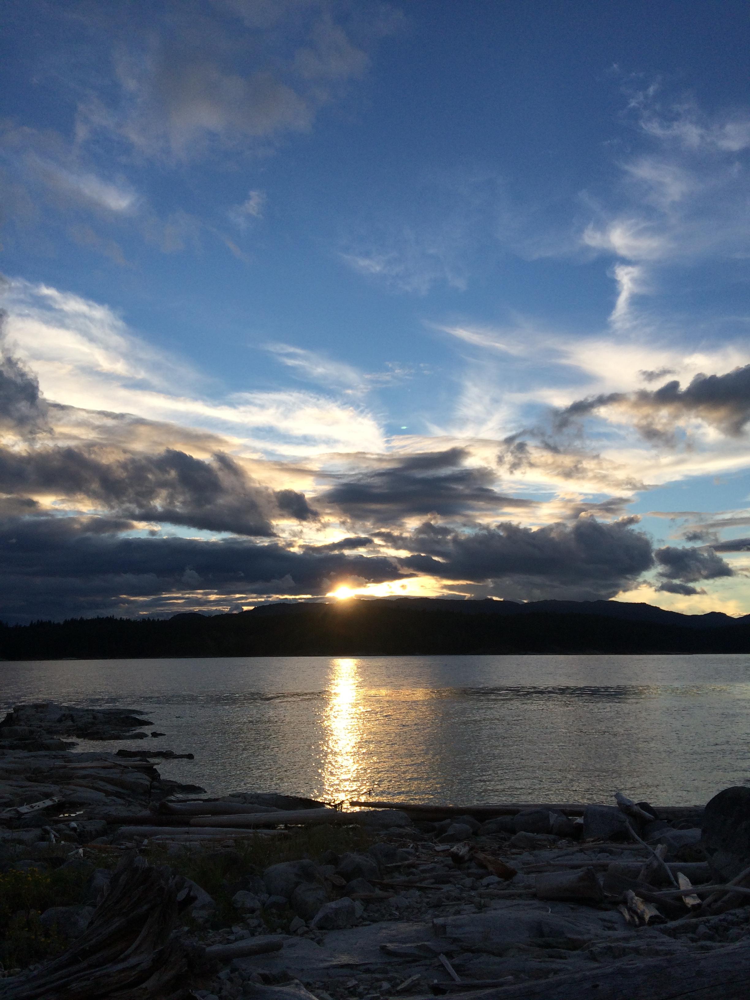 Sunset viewed from Breton Islands