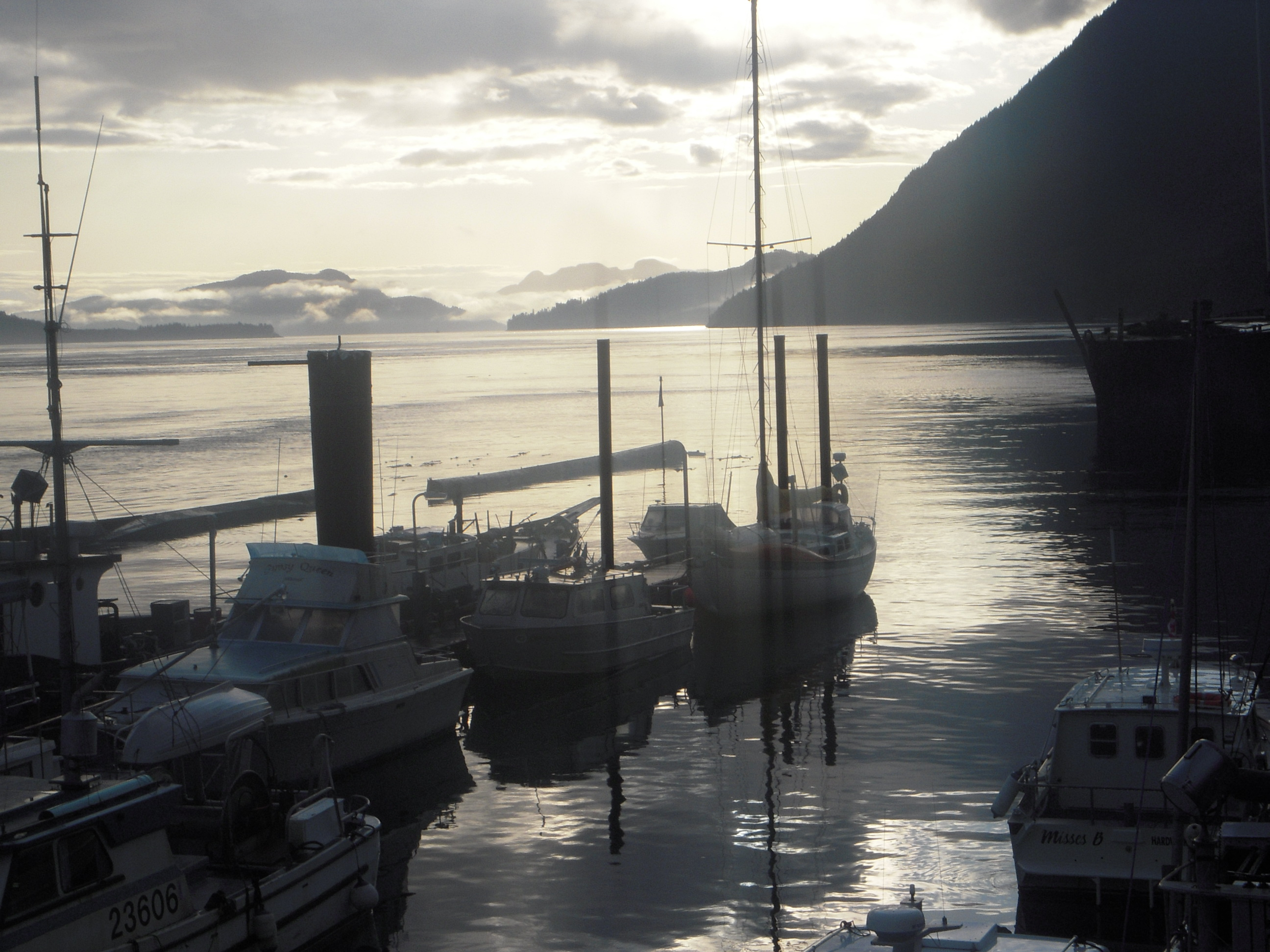 Johnstone Strait viewed from Kelsey Bay, BC